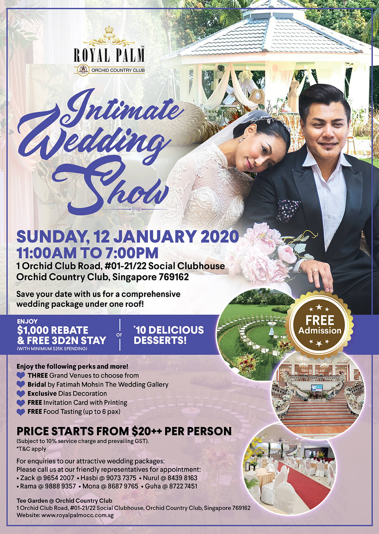 Intimate Wedding Show RP OCC January 2020 Web